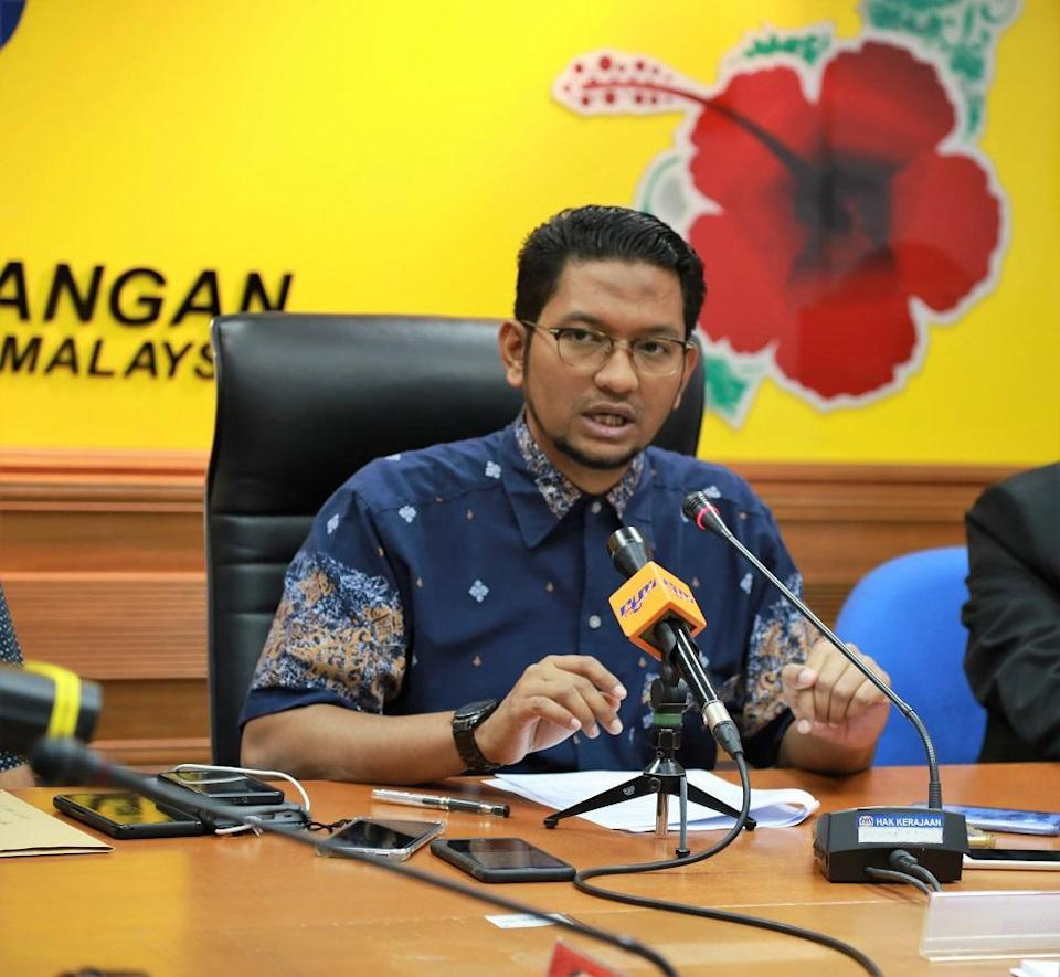 Johor DAP Youth chief Sheikh Umar Bagharib Ali claims that his party is used as a 'punching bag' every time an issue arises between Umno and Bersatu. — Picture by Roysten Rueben