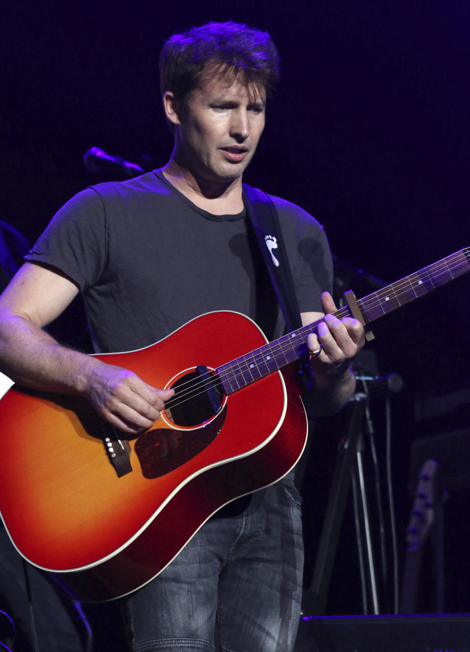 James Blunt performs as the opener for Ed Sheeran at Infinite Energy Center on Friday, August 25, 2017, in Atlanta. (Photo by Robb Cohen/Invision/AP)