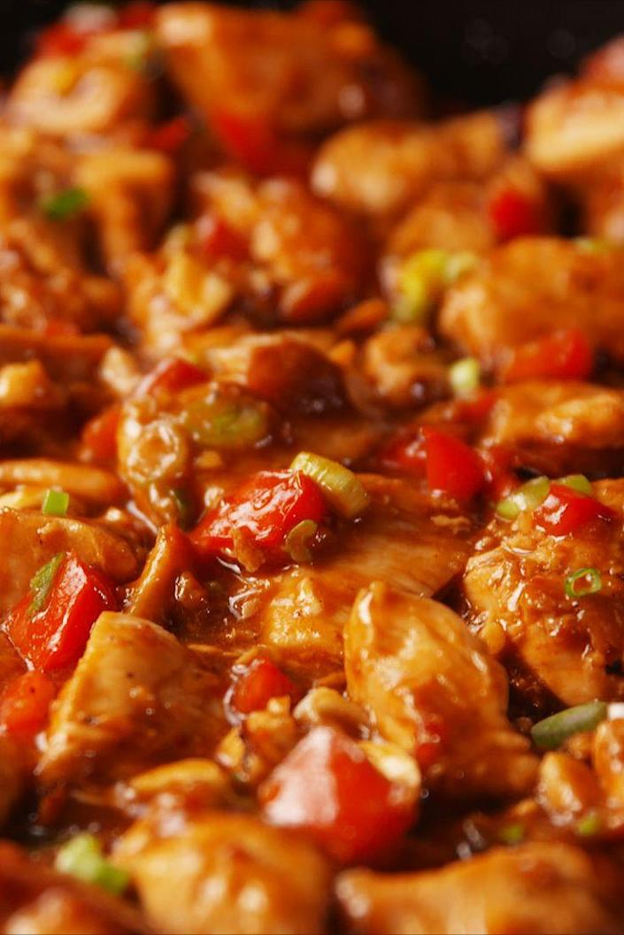 """<p>Just like takeout — but better.</p><p>Get the recipe from <a href=""""https://www.delish.com/cooking/recipe-ideas/recipes/a53297/kung-pao-chicken-recipe/"""" rel=""""nofollow noopener"""" target=""""_blank"""" data-ylk=""""slk:Delish"""" class=""""link rapid-noclick-resp"""">Delish</a>.</p>"""