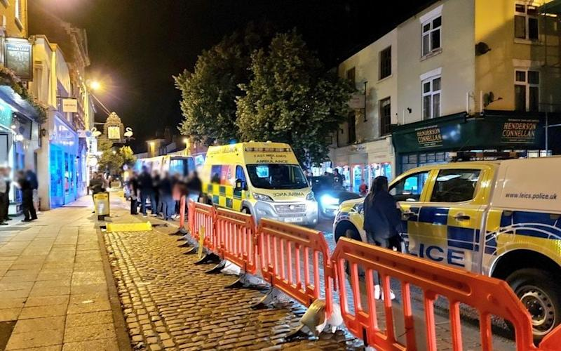 Leicestershire police issued a dispersal order in Market Harborough on Saturday night - @leicspolice