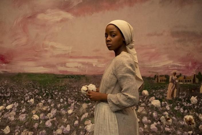 """Pictured: Thuso Mbedu (Cora Randall) in """"The Underground Railroad""""."""