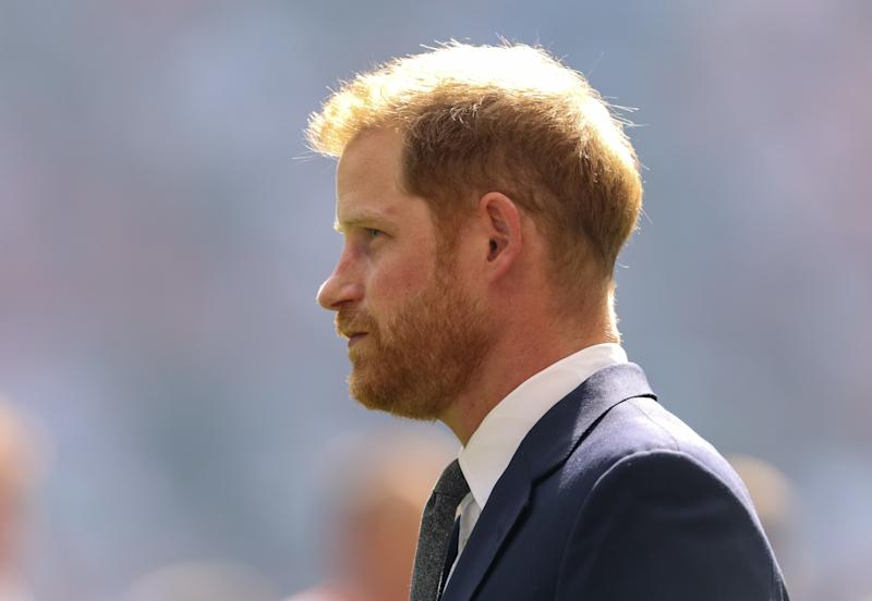 The Duke of Sussex meets the players before the Coral Challenge Cup Final at Wembley Stadium, London. PRESS ASSOCIATION Photo. Picture date: Saturday August 24, 2019. See PA story RUGBYL Final. Photo credit should read: Paul Harding/PA Wire. RESTRICTIONS: Editorial use only. No commercial use. No false commercial association. No video emulation. No manipulation of images.
