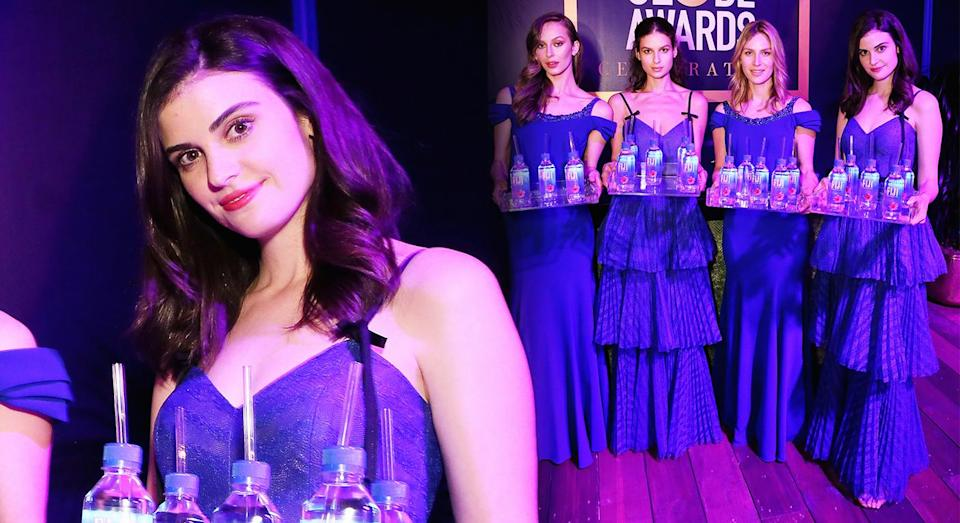Fiji Water Girl was the star of the Golden Globes. [Photo: Getty]