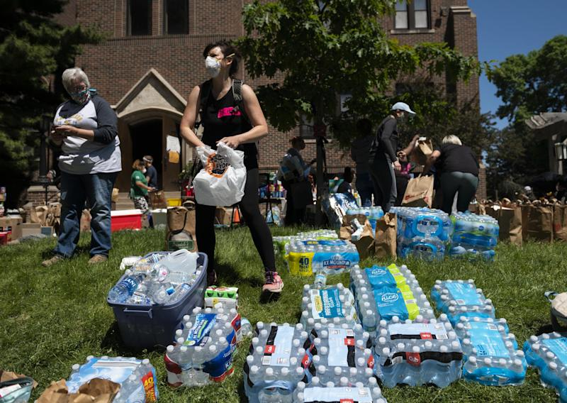 Donation drives have been held across the twin cities of Minneapolis and St Paul: Getty