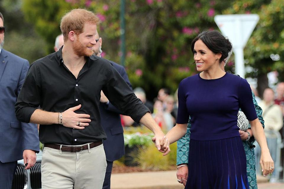 The Duchess of Sussex missed a few engagements during the couple's 17-day tour of Australia, Fiji and Tonga due to fatigue [Photo: Getty]