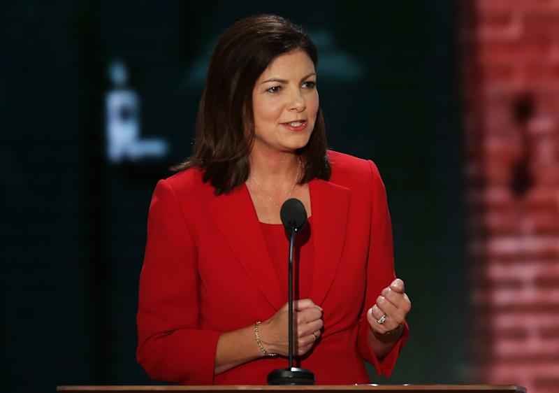 """<a href=""""http://www.senate.gov/artandhistory/history/common/briefing/women_senators.htm""""><strong>Served from:</strong></a> 2011 to present Sen. Kelly Ayotte (R-N.H.) speaks during the Republican National Convention at the Tampa Bay Times Forum on August 28, 2012 in Tampa, Florida. (Photo by Mark Wilson/Getty Images)"""