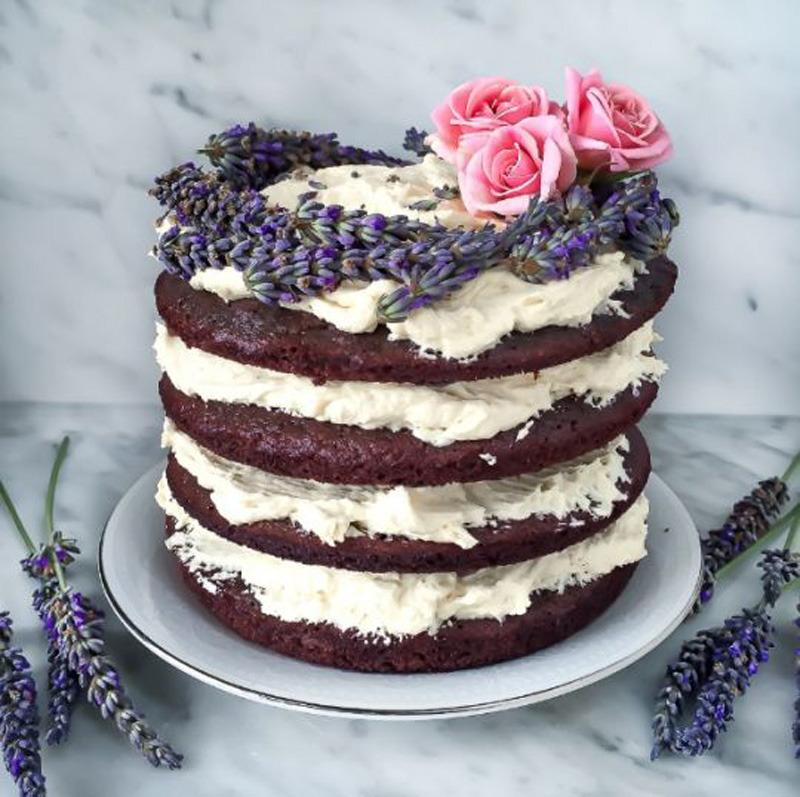 """<p>Despite its luscious looks, this cake is relatively guilt-free: It's naturally sweetened with honey and completely gluten-free. The purple dessert comes from Liz Moody of the healthy food blog <a href=""""http://www.sproutedroutes.com/"""">Sprouted Routes</a> in San Francisco. <b><a href=""""https://www.yahoo.com/food/cake-of-the-day-gluten-free-lavender-honey-cake-127013504536.html"""">Read more about the Lavender Honey Cake</a></b><br /></p><p><i>Photo: Liz Moody</i></p>"""