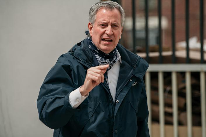 New York City Mayor Bill de Blasio speaks in Brooklyn in April. (Scott Heins/Getty Images)