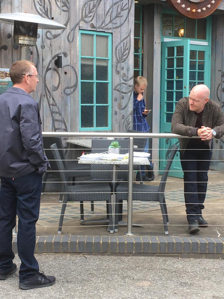 Jake Wood, right, has opened up about returning to film on EastEnders. (BBC)