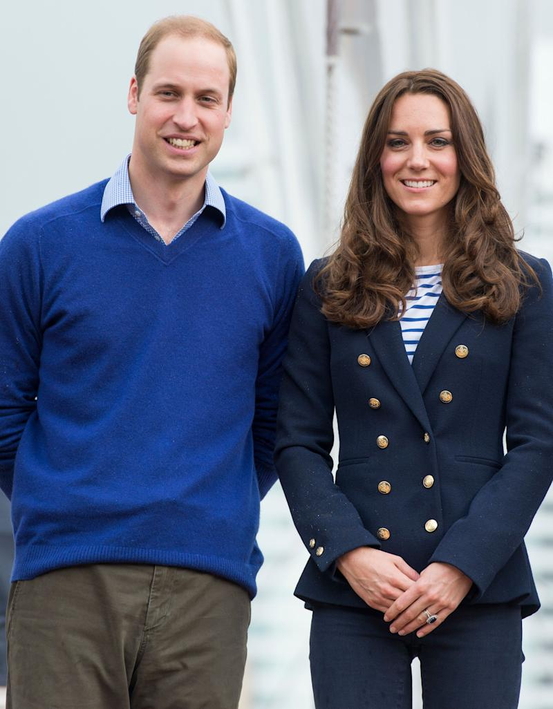 Kate dressed down in a ME+EM ensemble to sail with Team New Zealand on April 11, 2014.