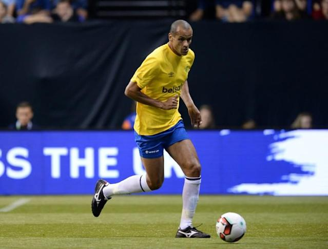 "Brazil's Rivaldo, pictured in 2017, said that ""to become the best in the world"" his compatriot Neymar should leave for Spain"