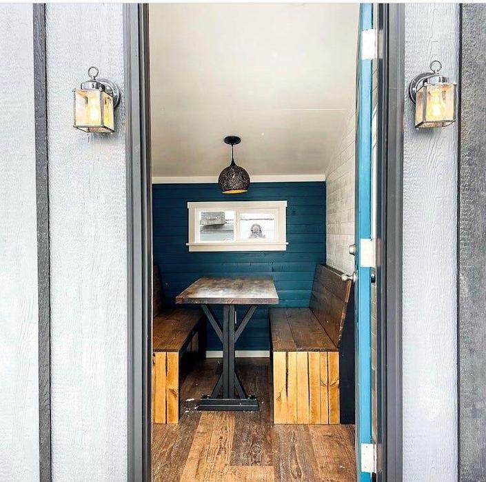 The interior of The Nook, a new Northern Colorado dining room on wheels.