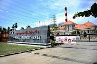 The Celukan Bawang 2 power plant funded by China on Indonesia's resort island of Bali is seen in 2020 (AFP/Sonny Tumbelaka)
