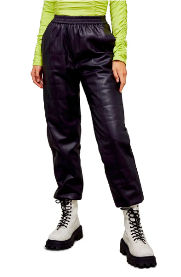 Topshop Quilted Faux Leather Jogger Pants (Photo via Nordstrom)
