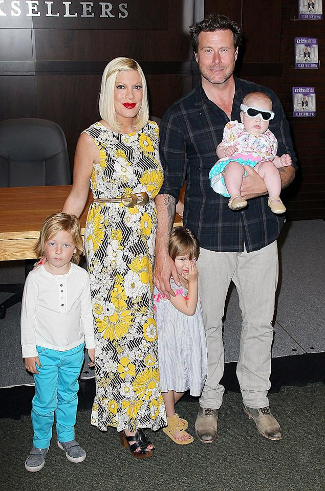 "<p class=""MsoNoSpacing"">Ten months after Tori Spelling and Dean McDermott welcomed daughter Hattie, the former ""90210"" star gave birth to 6-pound, 6-ounce son Finn Davey on Thursday evening – making them a family of six! ""We are so excited to announce the birth of the newest member of the McDermott family,"" Spelling, whose middle name is also Davey, wrote on her website just shortly after the delivery. The little one joins his big siblings: Liam, 5, Stella, 4, and Hattie, who turns 1 on October 10. (McDermott also has a 13-year-old son, Jack, from his first marriage.) The couple may have a lot of sleepless nights in the future, but they feel lucky to be parents again. ""We've been blessed with another angel,"" McDermott tweeted after meeting his new baby boy.</p>"