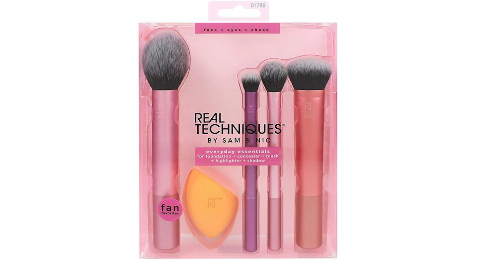 Real Techniques Everyday Essentials Makeup Brush Complete Face Set