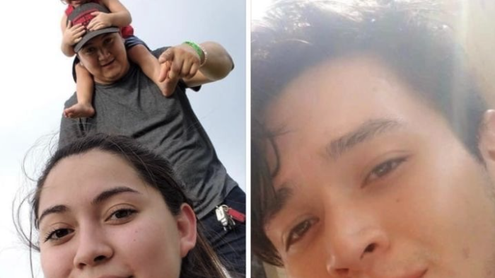Pictured are Daniel Garcia and Dominique Ramirez on the left, and on the right is Fernando Garcia, who all died in the Texas crash near Houston.