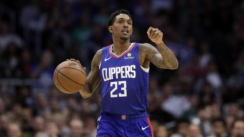 Los Angeles Clippers' Lou Williams (23) during an NBA basketball game Sunday, March 17, 2019, in Los Angeles. (AP Photo/Marcio Jose Sanchez)