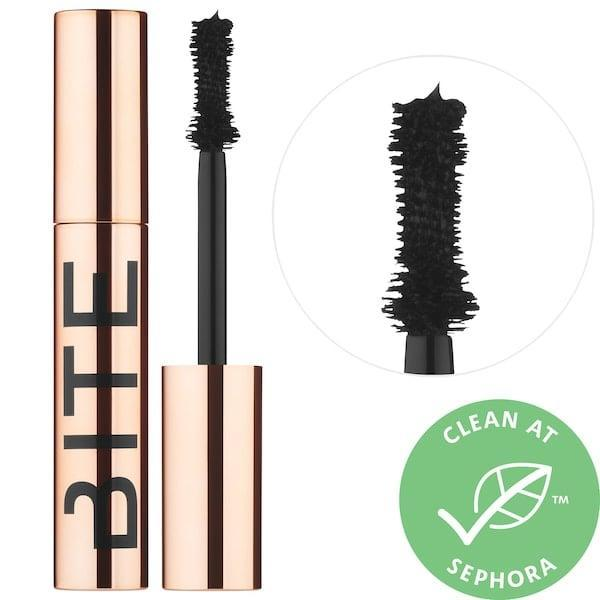 <p>Wiggle and swipe this clean <span>Bite Beauty Upswing Full Volume Mascara</span> ($28) for lengthy, flake-free lashes, thanks to vegan tree berry wax inside.</p>