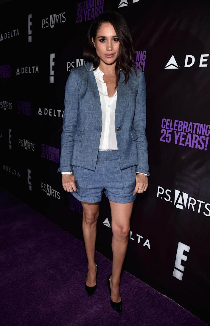 In Hollywood in 2016 in a shorts suit. (Getty Images)