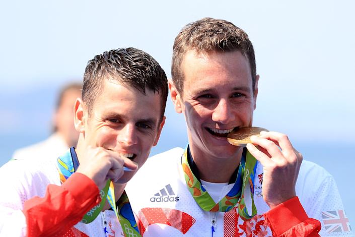 More medals for the brothers, this time gold and silver (Mike Egerton/PA) (PA Archive)