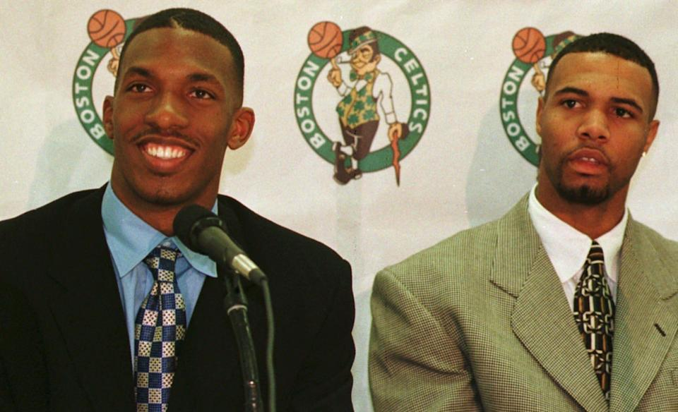 The Celtics selected Chauncey Billups (left) with the No. 3 overall pick and selected Ron Mercer with the No. 6 overall pick in 1997.