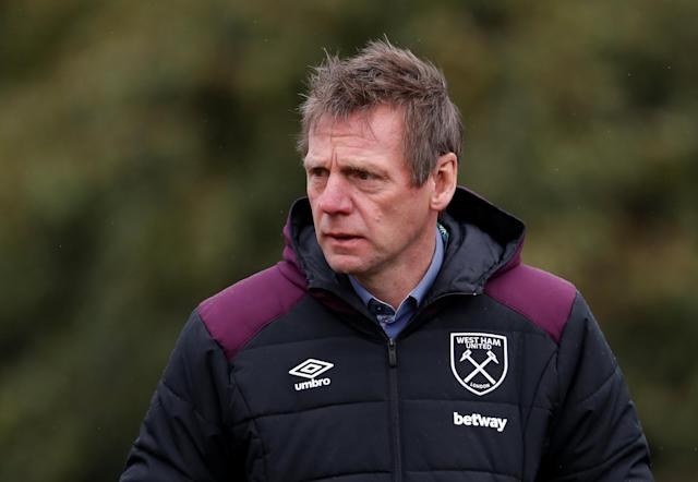 Rugby Union - England Training - Pennyhill Park, Bagshot, Britain - February 20, 2018 West Ham assistant manager Stuart Pearce during training Action Images via Reuters/Paul Childs