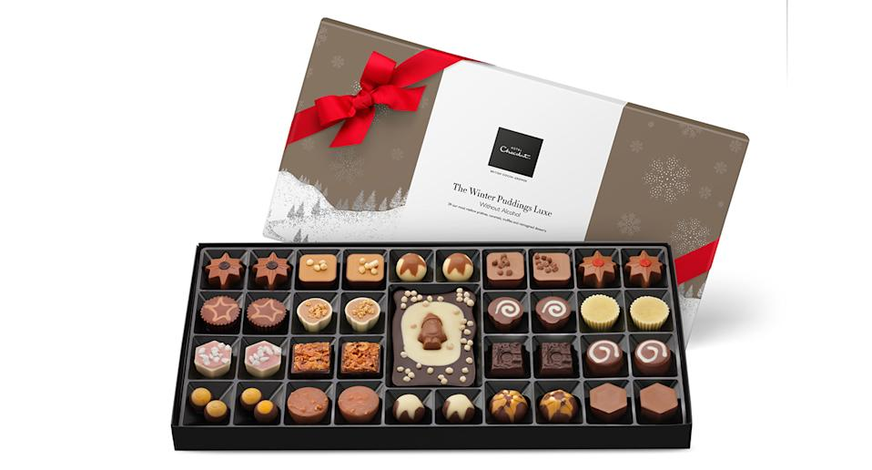 """If you can't decide what to get your mum, a giant box of luxury chocolates is always a solid choice. Plus, she likely won't be able to get through it herself so will no doubt share it with the whole family. Result. <a href=""""https://fave.co/2LClQYl"""" rel=""""nofollow noopener"""" target=""""_blank"""" data-ylk=""""slk:Shop now."""" class=""""link rapid-noclick-resp""""><strong>Shop now.</strong></a>"""