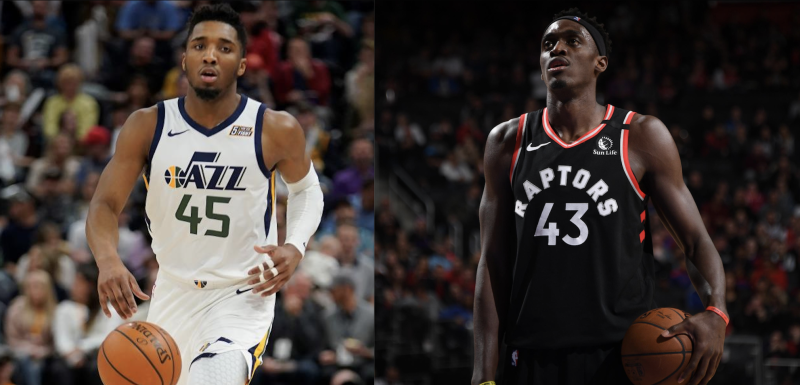 Donovan Mitchell and Pascal Siakam followed their own paths to the NBA.(Associated Press)