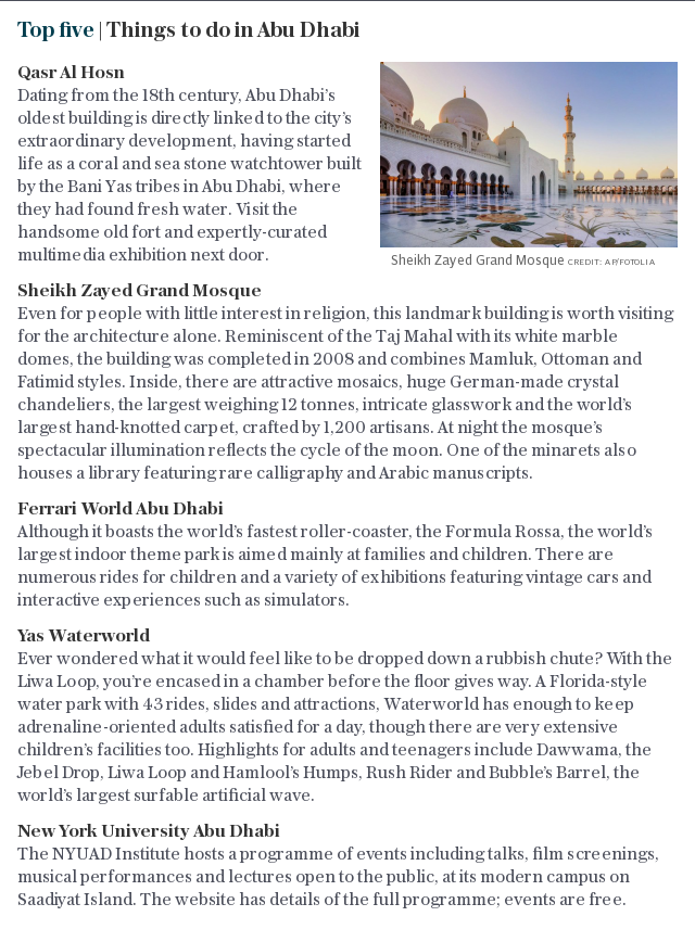 Top five | Things to do in Abu Dhabi