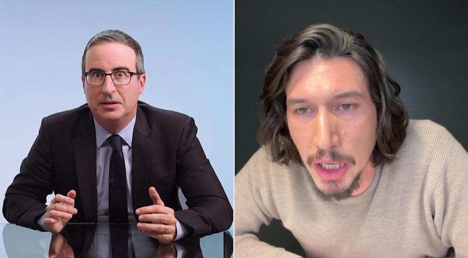 Last Week Tonight with John Oliver Adam Driver FaceTime