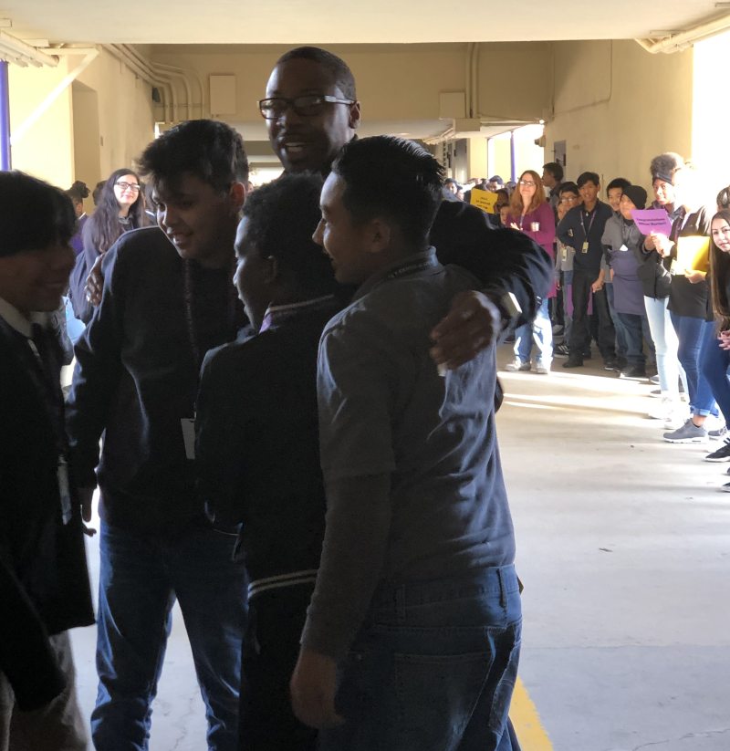 Cop Photo Goes Viral: Middle School Organizes Parade For Departing Officer
