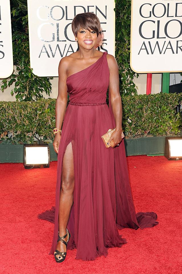 Viola Davis arrives at the 69th Annual Golden Globe Awards in Beverly Hills, California, on January 15.
