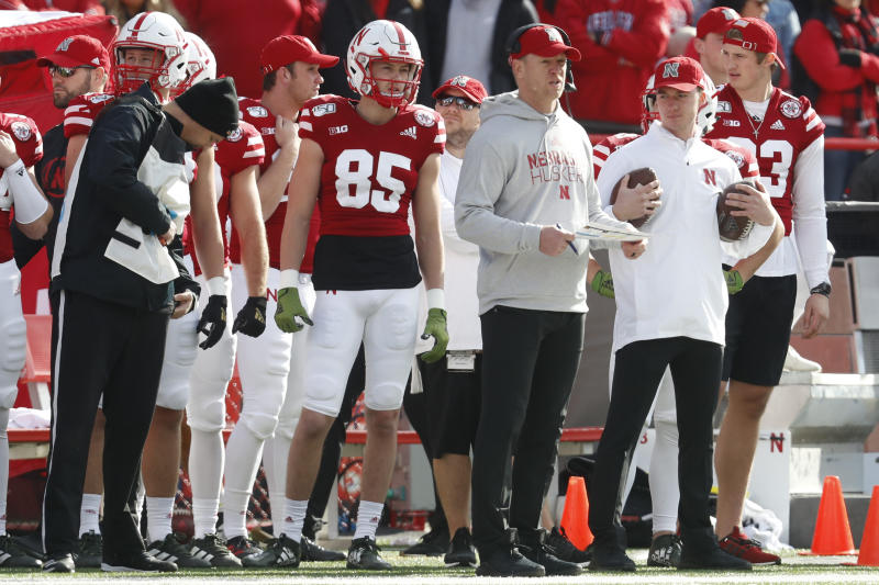 Nebraska Cornhuskers head coach Scott Frost watches a play during the game against the Wisconsin Badgers at Memorial Stadium. (USA Today)