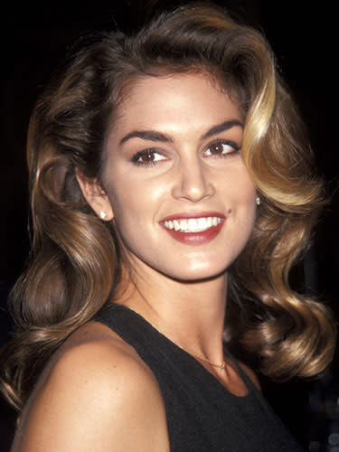"<div class=""caption-credit""> Photo by: Getty Images</div><div class=""caption-title"">Full brows</div>Get Cindy Crawford's strong brows: <br> <br> 1. For the most natural look, use a brow pencil - not powder - in a shade that matches the hairs. (The one exception: If you have very fair brows, pick a pencil that's one shade darker.) <br> <br> 2. You only want to fill in the sparse areas of your brows; otherwise, they'll look drawn on. Start by sketching the pencil along - but not above - the top edge of each brow using short, light flicks. Next, fill in just the bald spots, again with short flicks - and then, stop. <br> <br> 3. Sweep a spooley brush through your brows to blend in the pencil and create a soft, flawless finish. <br> <br> <b>More from REDBOOK:</b> <ul>  <li>  <a rel=""nofollow"" href=""http://www.redbookmag.com/beauty-fashion/tips-advice/best-at-home-hair-color?link=rel&dom=yah_life&src=syn&con=blog_redbook&mag=rbk""><b>The Best Hairstyles for Your Age</b></a>  </li>  <li>  <a rel=""nofollow"" href=""http://www.redbookmag.com/beauty-fashion/tips-%3C/body""></a>  <br>  </li> </ul>"
