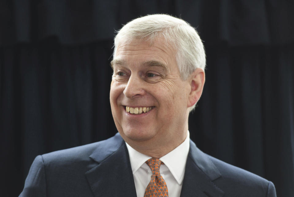 "June 8th 2020 - The United States Department of Justice demands that Great Britain hand over Prince Andrew to be formally questioned in the Jeffrey Epstein sex trafficking scandal. - January 27th 2020 - In a statement today, Geoffrey Berman the United States Attorney for the Southern District of New York said Prince Andrew has provided ""zero cooperation"" to United States law enforcement agents and investigators who wish to interview him regarding his association with the late millionaire sex offender Jeffrey Epstein. - November 21st 2019 - Prince Andrew The Duke of York steps down from all official royal public duties amid the escalation of his associations in the Jeffrey Epstein scandal. - File Photo by: zz/KGC-375/STAR MAX/IPx 2019 3/21/19 Prince Andrew The Duke of York visits the Royal National Orthopaedic Hospital in London to open the new Stanmore Building. (London, England, UK)"