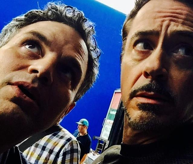 "<p>Mark Ruffalo posted this portrait of him and Downey on June 21 referencing <a href=""http://www.vulture.com/2013/04/mark-ruffalo-science-bros-avengers-robert-downey-jr.html"" rel=""nofollow noopener"" target=""_blank"" data-ylk=""slk:their Avengers nickname/meme"" class=""link rapid-noclick-resp"">their Avengers nickname/meme</a>: ""<a href=""https://www.instagram.com/explore/tags/nationalselfie/"" rel=""nofollow noopener"" target=""_blank"" data-ylk=""slk:#nationalselfie"" class=""link rapid-noclick-resp"">#nationalselfie</a> day. Science Bros Style. With the inimitable <a href=""https://www.instagram.com/robertdowneyjr/"" rel=""nofollow noopener"" target=""_blank"" data-ylk=""slk:@robertdowneyjr"" class=""link rapid-noclick-resp"">@robertdowneyjr</a>."" (Photo: <a href=""https://www.instagram.com/p/BVnmzV8l7es/"" rel=""nofollow noopener"" target=""_blank"" data-ylk=""slk:markruffalo/Instagram"" class=""link rapid-noclick-resp"">markruffalo/Instagram</a>) </p>"