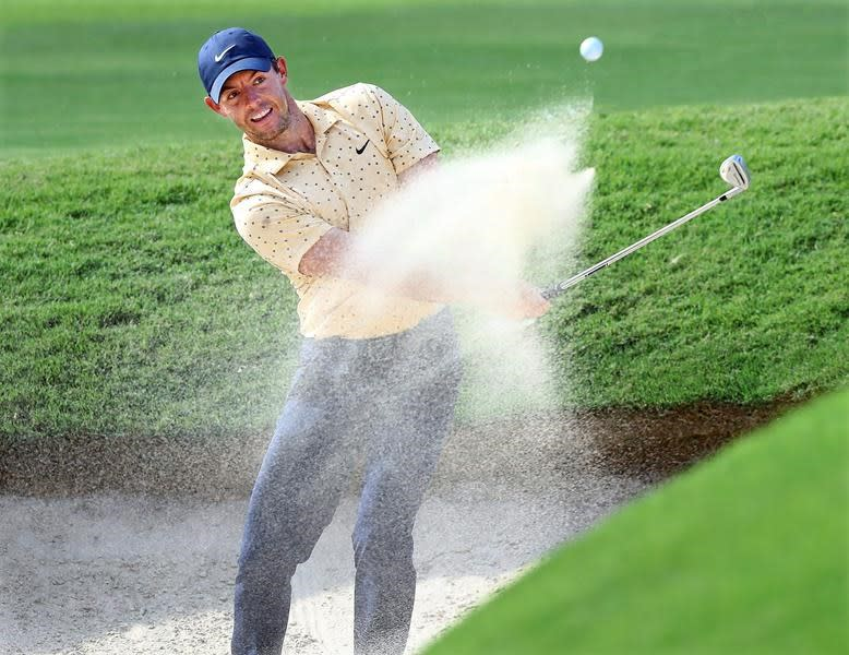 Rahm has 65 to catch up to Johnson at Tour Championship