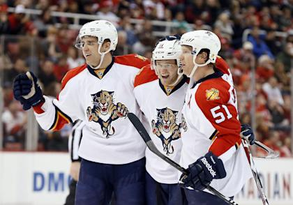 Ekblad grew up in Windsor and said his first game in nearby Detroit was ''a really special, surreal feeling.'' (AP)