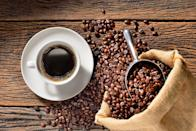 """<p>Good news: You don't have to quit your <a href=""""https://www.prevention.com/food-nutrition/healthy-eating/a19831490/coffee-good-for-you/"""" rel=""""nofollow noopener"""" target=""""_blank"""" data-ylk=""""slk:coffee"""" class=""""link rapid-noclick-resp"""">coffee</a> habit. Enjoying a cup of joe in moderation is actually good for your health. In fact, plenty of research has linked coffee consumption to a decreased risk of <a href=""""http://cebp.aacrjournals.org/content/27/8/928"""" rel=""""nofollow noopener"""" target=""""_blank"""" data-ylk=""""slk:cancer"""" class=""""link rapid-noclick-resp"""">cancer</a>, <a href=""""https://www.ahajournals.org/doi/full/10.1161/CIRCULATIONAHA.113.005925"""" rel=""""nofollow noopener"""" target=""""_blank"""" data-ylk=""""slk:cardiovascular disease"""" class=""""link rapid-noclick-resp"""">cardiovascular disease</a>, <a href=""""https://content.iospress.com/articles/journal-of-alzheimers-disease/jad01404"""" rel=""""nofollow noopener"""" target=""""_blank"""" data-ylk=""""slk:dementia"""" class=""""link rapid-noclick-resp"""">dementia</a>, <a href=""""https://www.ncbi.nlm.nih.gov/pmc/articles/PMC5440772/"""" rel=""""nofollow noopener"""" target=""""_blank"""" data-ylk=""""slk:liver disease"""" class=""""link rapid-noclick-resp"""">liver disease</a> and even <a href=""""https://link.springer.com/article/10.1007/s00125-014-3235-7"""" rel=""""nofollow noopener"""" target=""""_blank"""" data-ylk=""""slk:diabetes"""" class=""""link rapid-noclick-resp"""">diabetes</a>. Dixon recommends adding no more than a splash of milk or cream and no more than a teaspoon of sugar to your daily brew.<br></p>"""