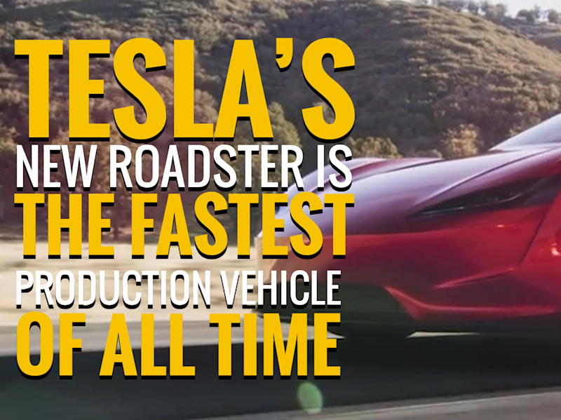 Tesla's New Roadster Is the Fastest Production Vehicle of All Time