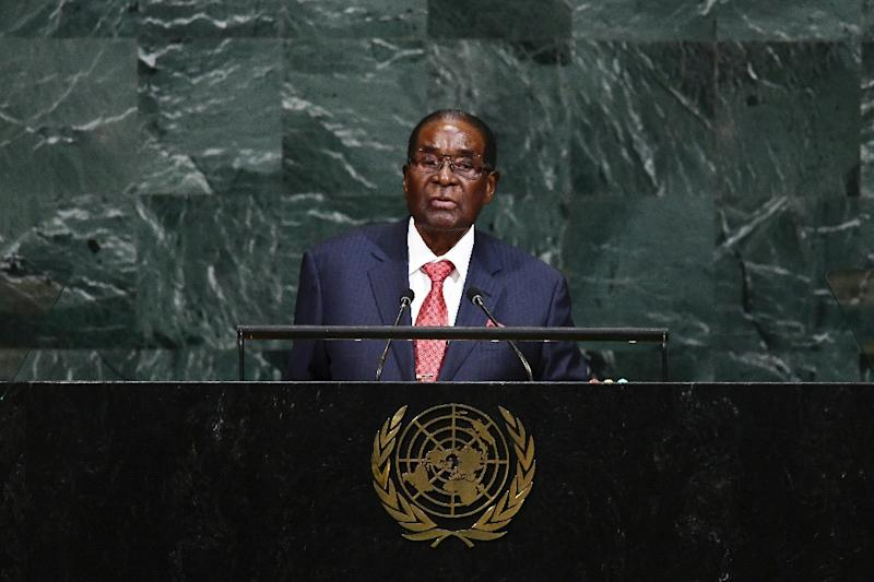 Zimbabwe's President Robert Mugabe took US President Donald Trump to task in addressing the United Nations General Assembly