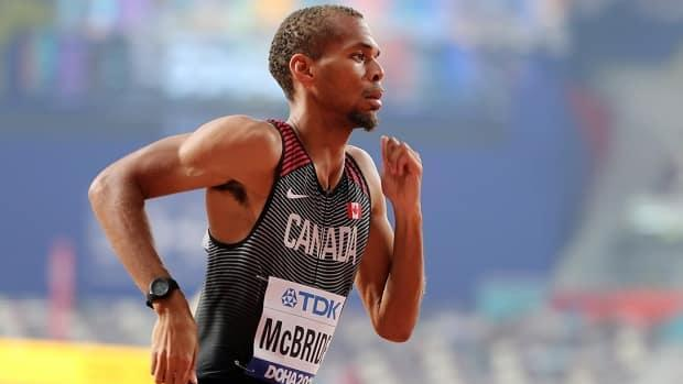 Brandon McBride is planning to run the 1,500 metres on May 29 in Portland, Ore., to prepare for the Tokyo Olympics in July, his first race since failing to qualify for the men's 800 final at the 2019 world championships. (Lucy Nicholson/Reuters/File - image credit)