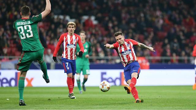 Diego Simeone's side hold a comfortable advantage in their last-16 Europa League tie after Atletico Madrid beat Lokomotiv Moscow 3-0.