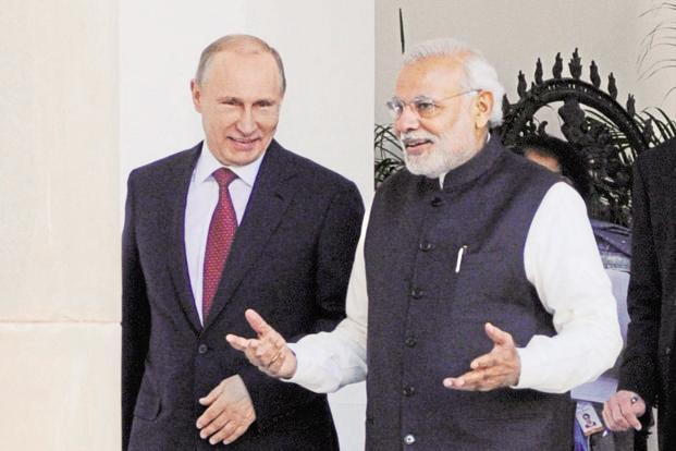 Putin, Modi signal a step-up in India Russia relations