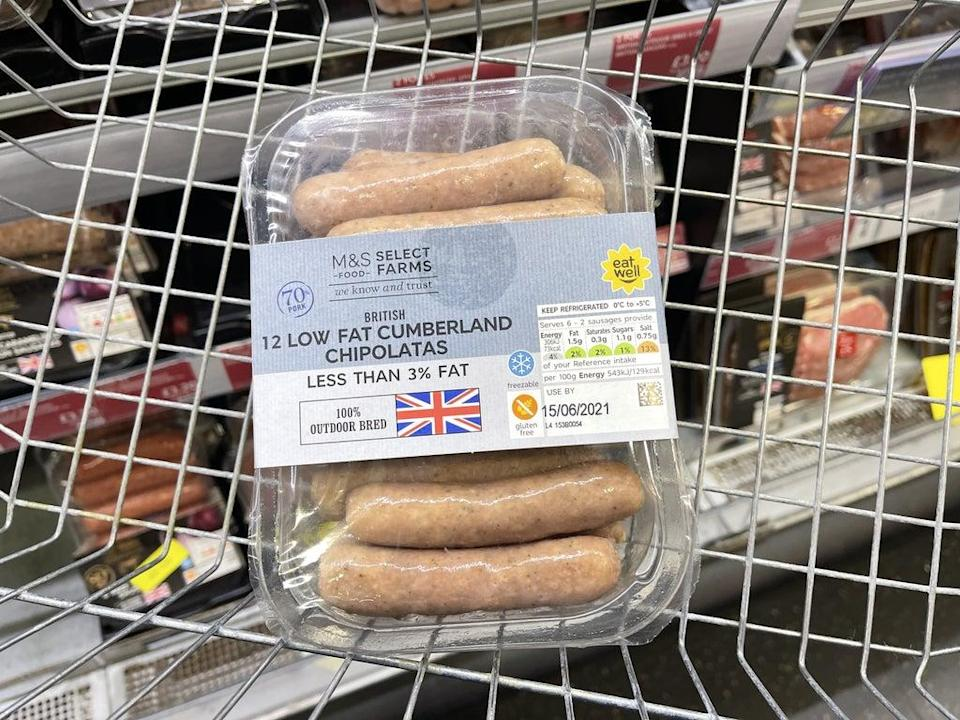 It is a challenge to find GB sausages on shelves in Northern Ireland (Liam McBurney/PA) (PA Wire)
