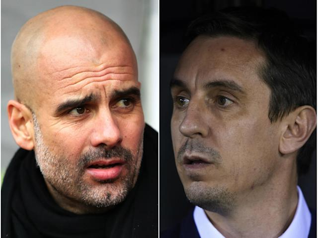 Guardiola has hit back at Neville: Getty