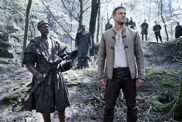 Charlie Hunnam and pals in King Arthur: Legend of the Sword (Warner Bros)