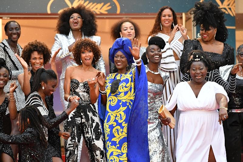 Black and mixed-race French actresses lit up Cannes protesting the discrimination and stereotyping they have suffered (AFP Photo/Alberto PIZZOLI)