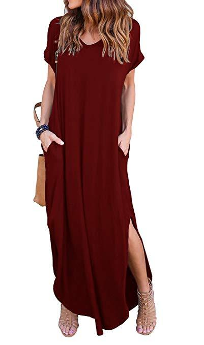 Amazon best-selling maxi dress in Wine Red (Photo: Amazon)